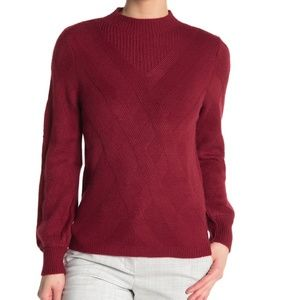 NWT Joseph A mock neck cranberry sweater pullover